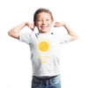Sprinklecart Personalized Shine Bright Like a Sun Printed Poly-Cotton Kids T Shirt Wear (White)