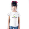 Sprinklecart Custom Name Printed Mewnicorn Princess Poly-Cotton Kids T Shirt Wear (White)