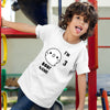 Sprinklecart Personalized Name and Age Printed Poly-Cotton T Shirt Wear for Kids (White)