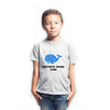 Sprinklecart Customized Name Printed Shark Poly-Cotton T Shirt Wear for Kids (White)