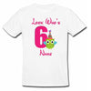 Sprinklecart Look Who's 6 Printed Cute Owl Personalized 6th Birthday Poly-Cotton Kids T Shirt (White)