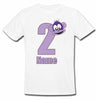 Sprinklecart Personalized Name and Age Printed 2nd Birthday Monkey Kids Poly-Cotton T Shirt (White)