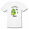 Sprinklecart Rawr! I'm 3 Printed Cute Dinosaur Birthday Personalized Kids T Shirt (White)