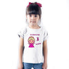 Sprinklecart Cute Princess Personalized Name and Age Printed Poly-Cotton T Shirt for Kids (White)