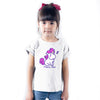 Sprinklecart Unicorn Princess 8th Birthday Personalzed Poly-Cotton Kids T Shirt Wear (White)