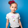 Sprinklecart Personalized Magical Like a Unicorn Printed Poly-Cotton Kids T Shirt Wear (White)