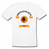 Sprinklecart Base Ball 6th Birthday Custom Name and Age Printed Poly-Cotton T Shirt for Kids (White)