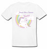 Sprinklecart Dream Like a Unicorn Printed Personalized Poly-Cotton T Shirt for Kids (White)