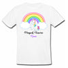 Sprinklecart Customized Magical Unicorn Poly-Cotton T Shirt Wear for Your Kid (White)