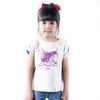 Sprinklecart Seven Magical Years Printed Unicorn Customized 7th Birthday Kids T Shirt (White)