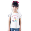 Sprinklecart Birthday Unicorn Printed Customized Kids Poly-Cotton T Shirt Wear (White)