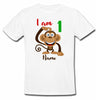 Sprinklecart Cute Monkey 1st Birthday Personalized Poly-Cotton T Shirt Wear for Kids (White)