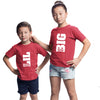 Sprinklecart Matching Big Sister Lil Brother Printed Sibling T Shirts | Cotton Red T Shirts