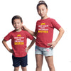 Sprinklecart Keep Calm I Have Coolest Brother Keep Calm I Have Cutest Sister Printed Red Cotton Sibling T Shirts