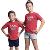 Sprinklecart Matching Cool Sis Cool Bro Sibling T Shirt | Pack of 2 Red Cotton T Shirt