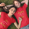 Sprinklecart Naughty with a Bit of Nice | Nice with a Bit of Naughty Printed Couple T Shirt