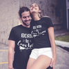 Sprinklecart Born to Love Her Born to Love Him Matching Couple T Shirt