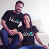 Sprinklecart Matching Hubby Wifey Printed Couple T Shirt | Cool Cotton T Shirts