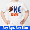 Sprinklecart Customized Name Printed American Football Kids 1st Birthday Wear for Your Little Star