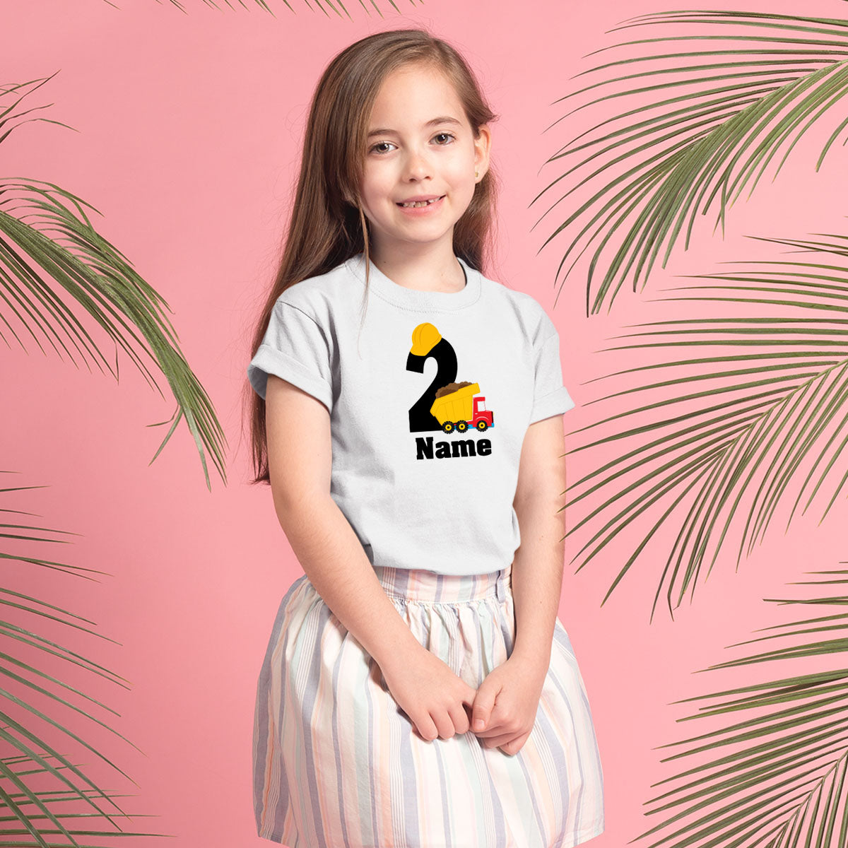Sprinklecart Unique Personalized Name Printed Sand Lori | Yellow Cap | Kids 2nd Birthday Tshirt Choice for Your Little One