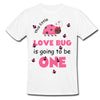 Sprinklecart Special 1st Birthday Tee Gift | Customized Name Printed This Little Love Bug is Going to be One | Kids Birthday T Shirt