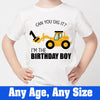 Sprinklecart for Your Little Kid | Personalized Name Printed |Can You Dig it ?| JCB |Kids 1st Birthday Tee Wear