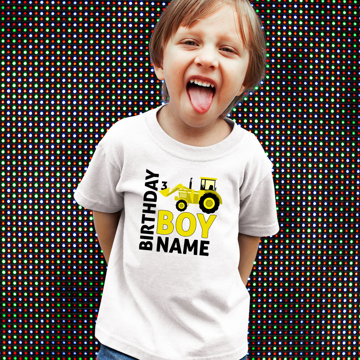 Sprinklecart Surprise Gift for Your 3rd Birthday Dress | Customized Name Printed | Birthday Boy | Kids Birthday T Shirt