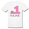 Sprinklecart Make This Birthday Different | Personalized Name Printed Little Elephant | Choice for Your Kids 1st Birthday Tee Wear