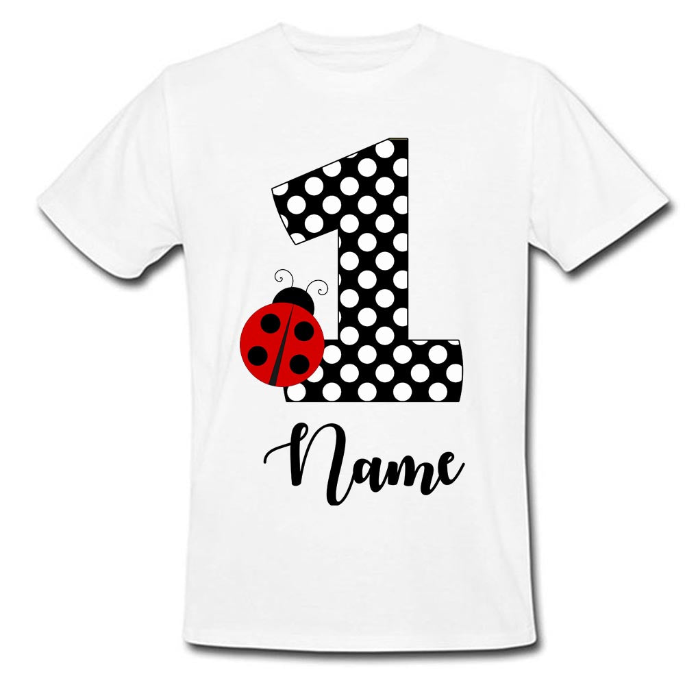 Sprinklecart Birthday Wear for Your Little Star | Personalized Name Printed Bug First 1st Birthday Special Tee Gift