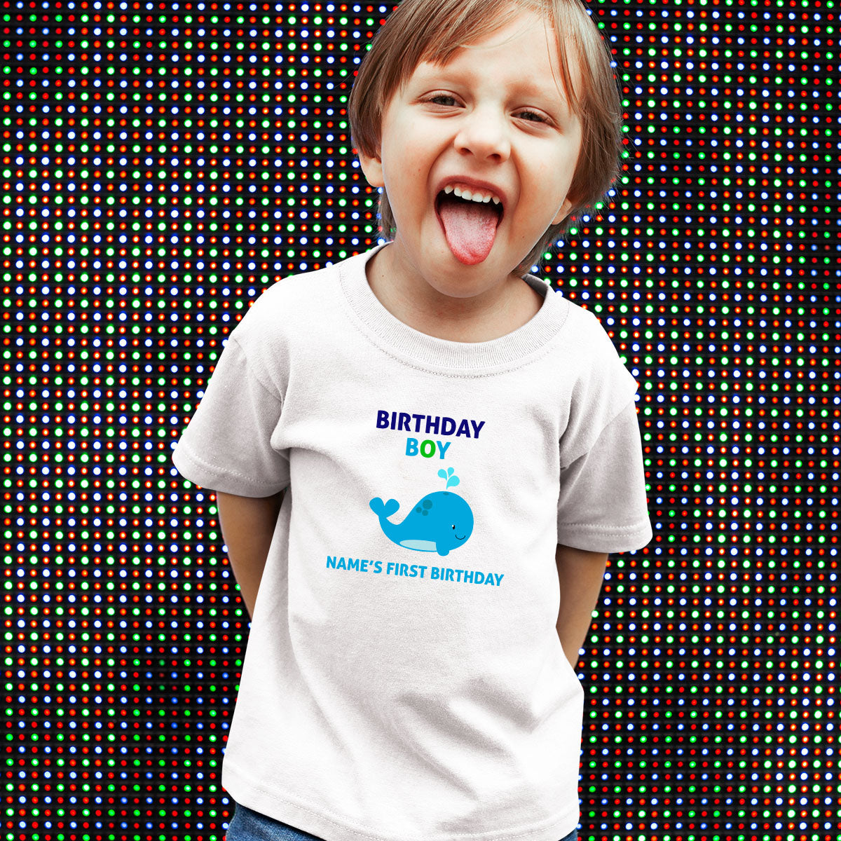Sprinklecart Special Kids 1st Birthday Dress | Customized Name Printed Birthday Boy Tee Gift for Your Kid