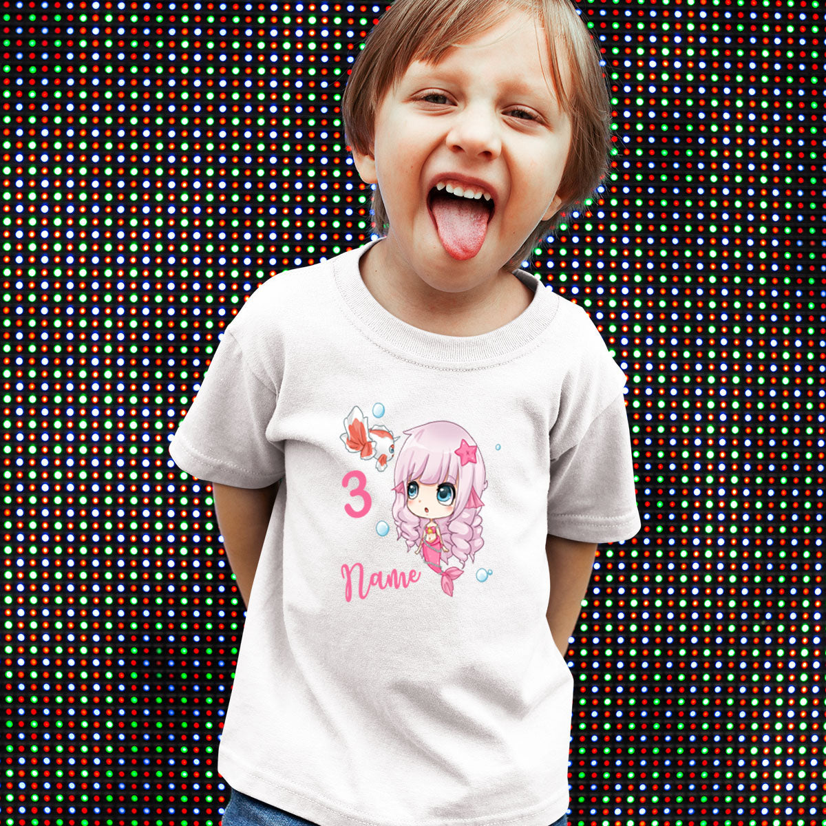 Sprinklecart Make This Birthday Special | Lovely Little Mermaid 3rd Birthday T Shirt for Your Little One | Perfect Birthday Tee Wear