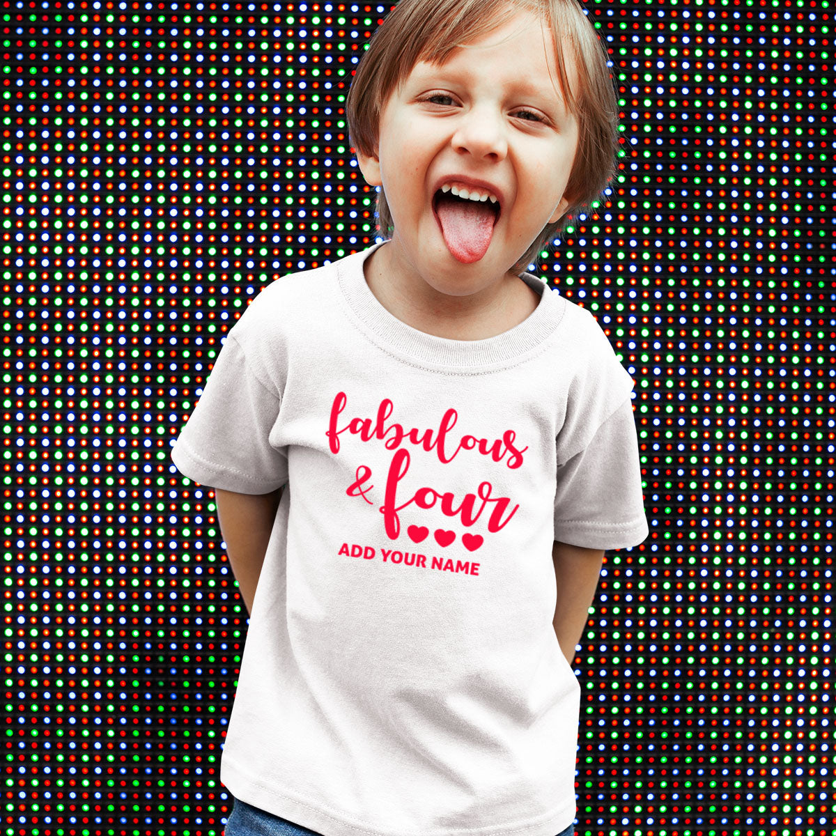 Sprinklecart Make This Birthday Special | Customized Name Printed Little Fabulous Birthday T Shirt for Your Little One | Perfect Birthday Tee Wear