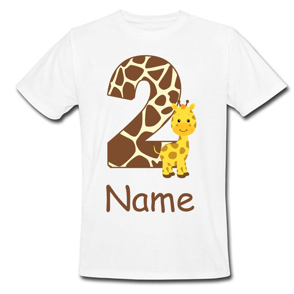 Sprinklecart Kids Birthday Gift | Customized Name Printed Little Tiger Kids 2nd Birthday T Shirt | Be Unique in Your Gift Choice