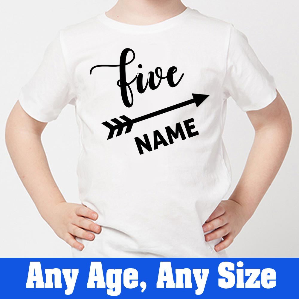 Sprinklecart Special Kids 5th Birthday Tee Gift | Customized Name Printed Cute Tee Gift for Your Little One