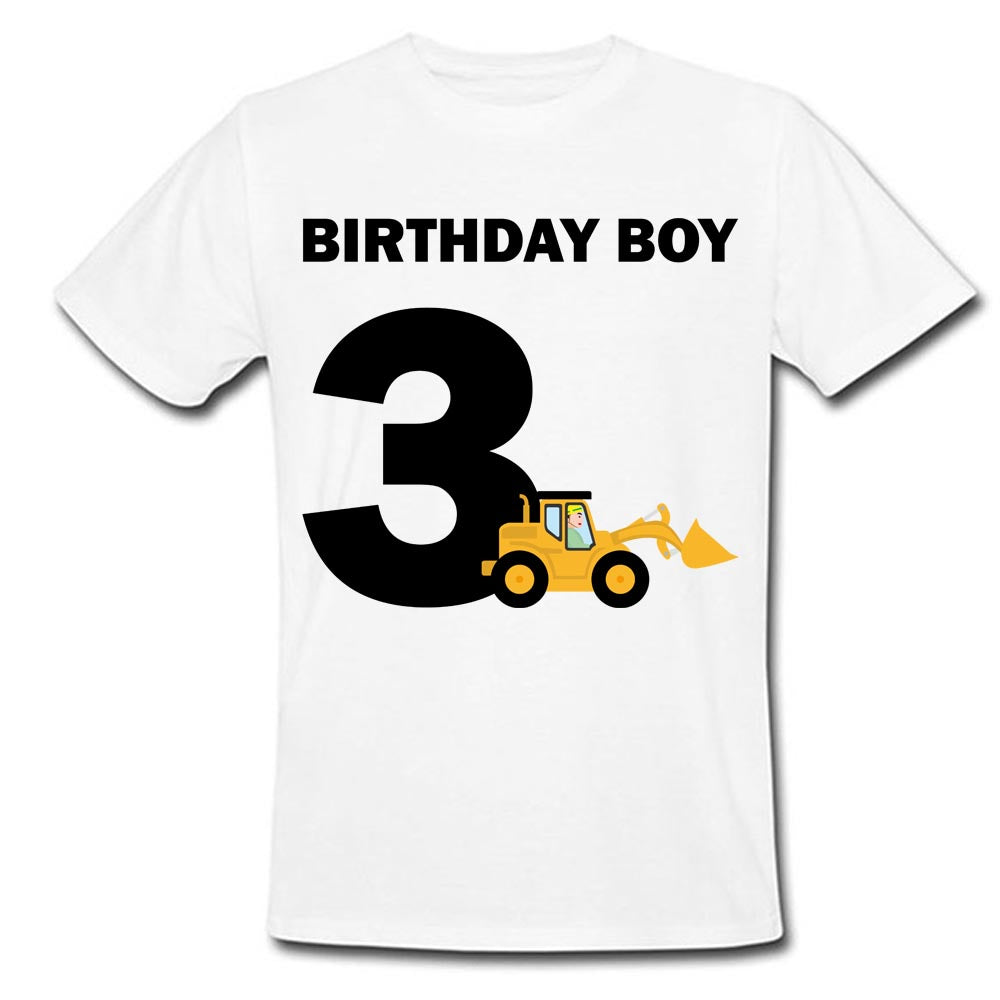 Sprinklecart Unique Personalized Name Printed Kids JCB 3RD Birthday Wear for Your Little Kid