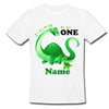 Sprinklecart Little Dinosaur | Round Neck Casual Tshirt | Customized Name Printed It is Fun to Be One | Birthday Tee Gift for Your Kids