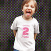 Sprinklecart Fabulous Pink Butterfly 2nd Birthday Tee | Custom Name and Age Printed Birthday Gift for Girls