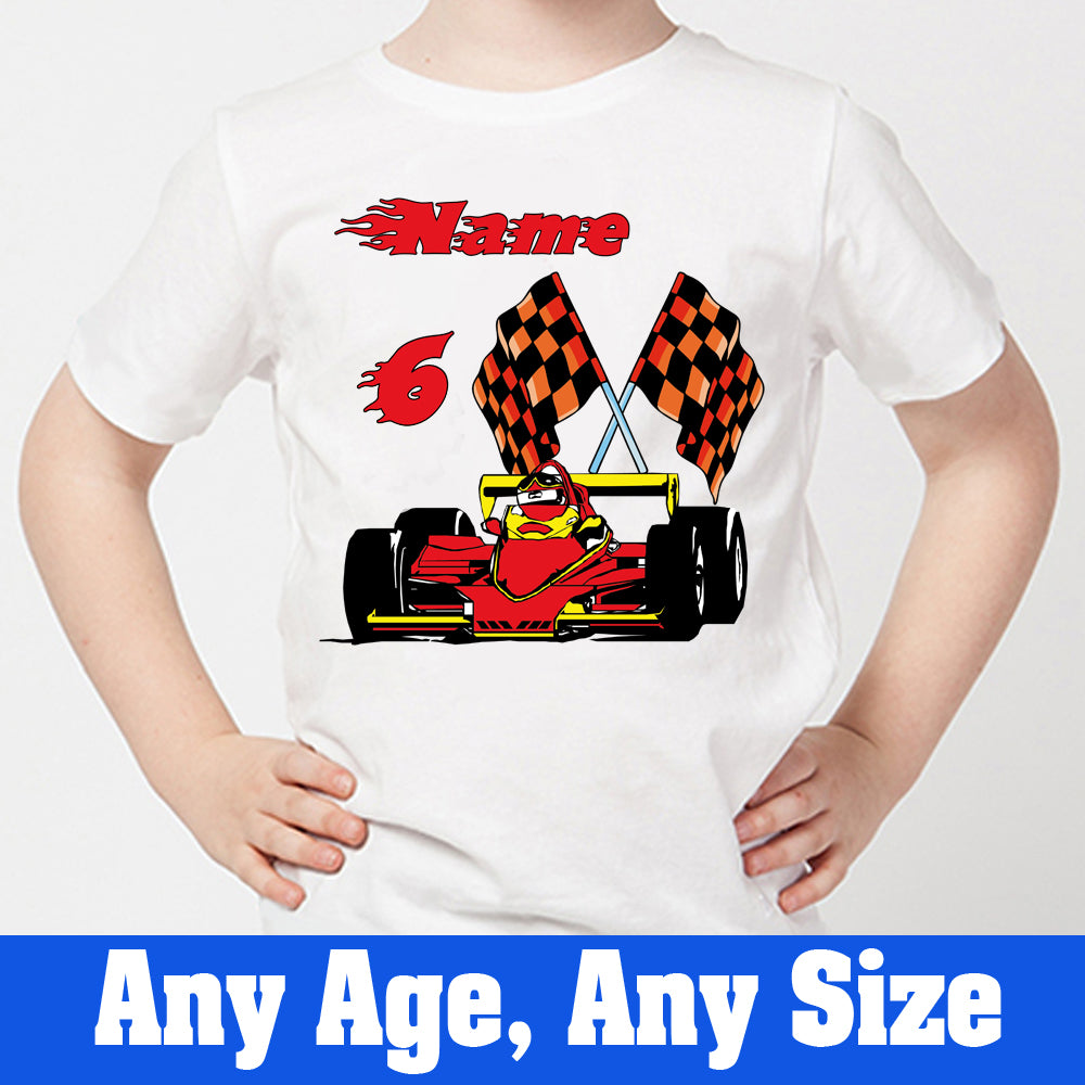 Sprinklecart Racing Car 6th Birthday T Shirt Gift | Make Your Kid's Birthday Special with Our T Shirt