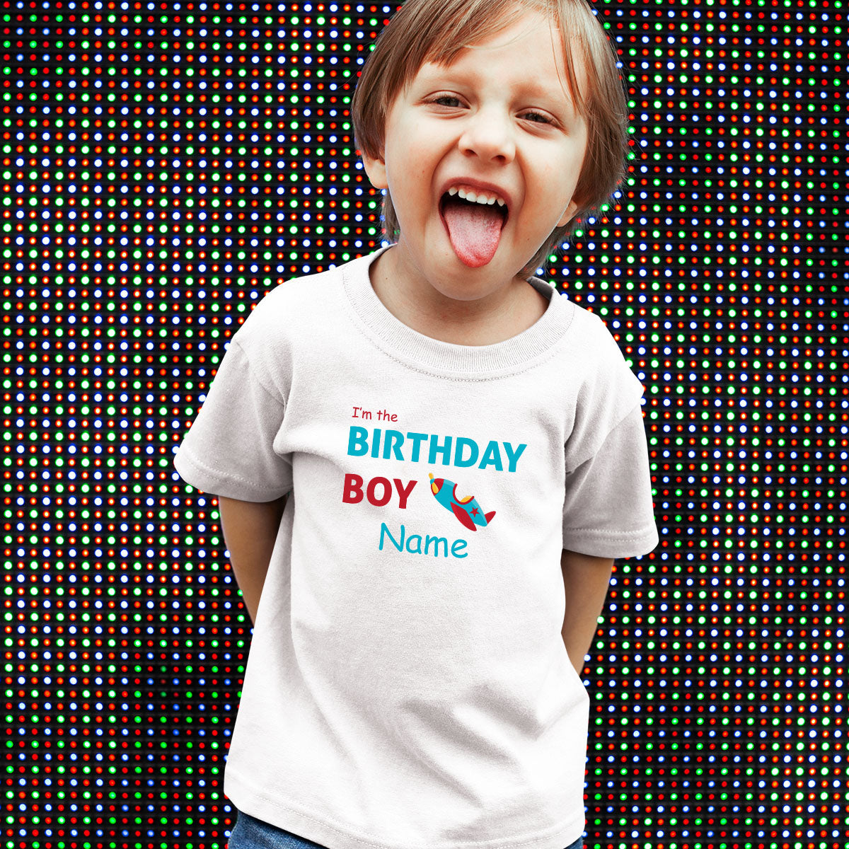 Sprinklecart Cute Air Plane Birthday T Shirt | Personalized Birthday Wear Gift for Your Little One