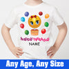 Sprinklecart Cute and Lovely Smiley Birthday T Shirt Gift | Kids Customized Birthday Wear for Girls