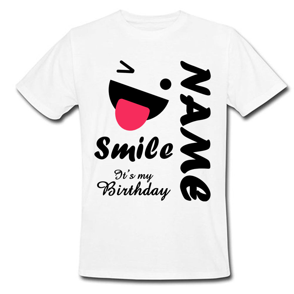 Sprinklecart Smile It's My Birthday Printed Tee | Personalized Cute Birthday Dress