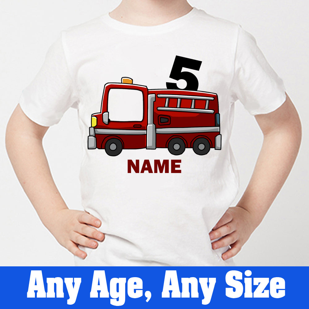 Sprinklecart 5th Birthday Tee | Fire Vehicle Themed Awesome Birthday Gift for Your Little One
