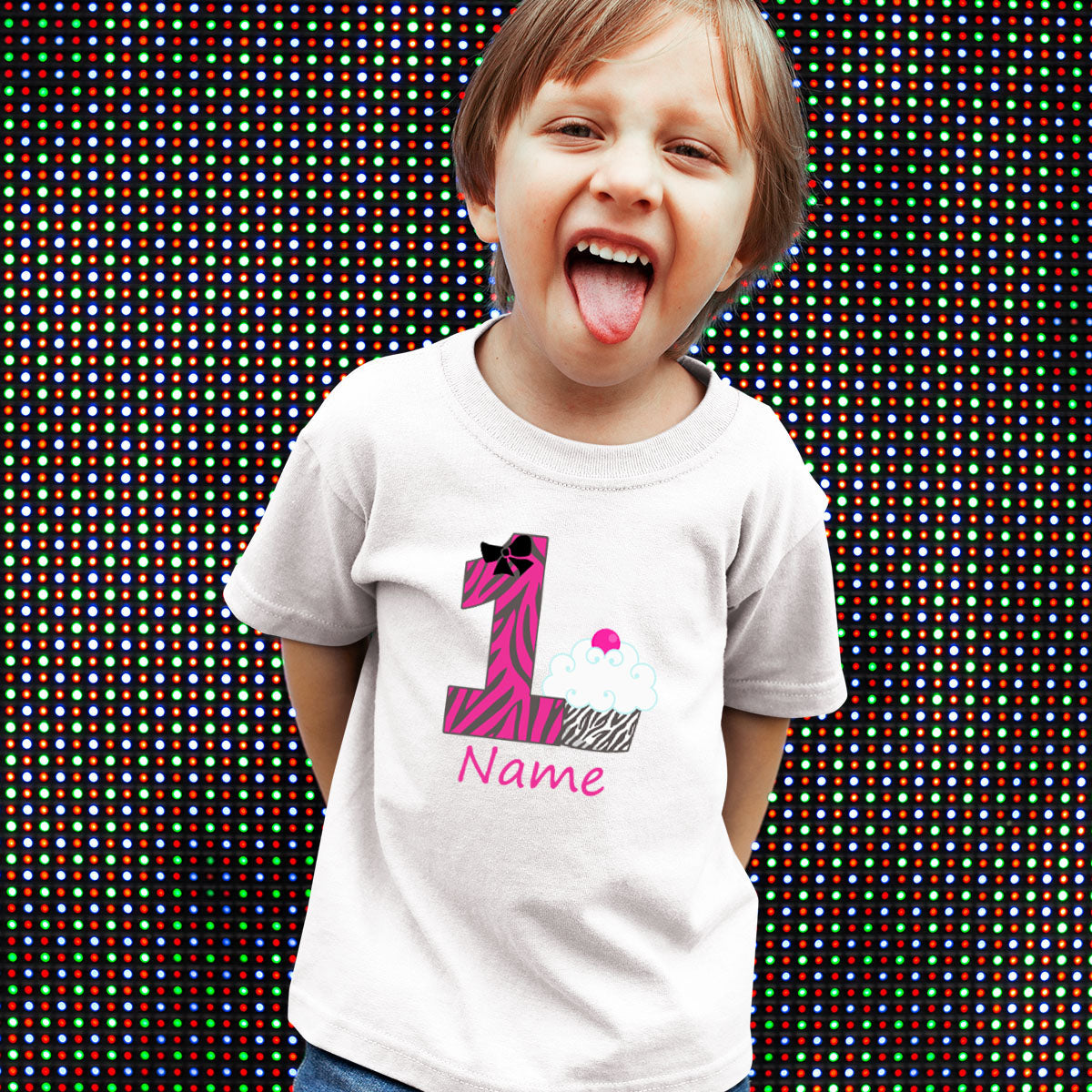Sprinklecart Personalized Cup Cake Birthday Dress | Ideal First Birthday T Shirt