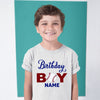 Sprinklecart Baseball Themed Birthday Boy Tee | Customized Birthday Dress for Boys