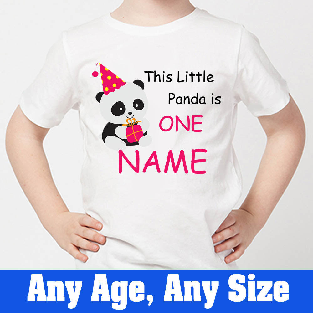 Sprinklecart This Little Panda is One Birthday Tee | Personalized Panda 1st Birthday Wear