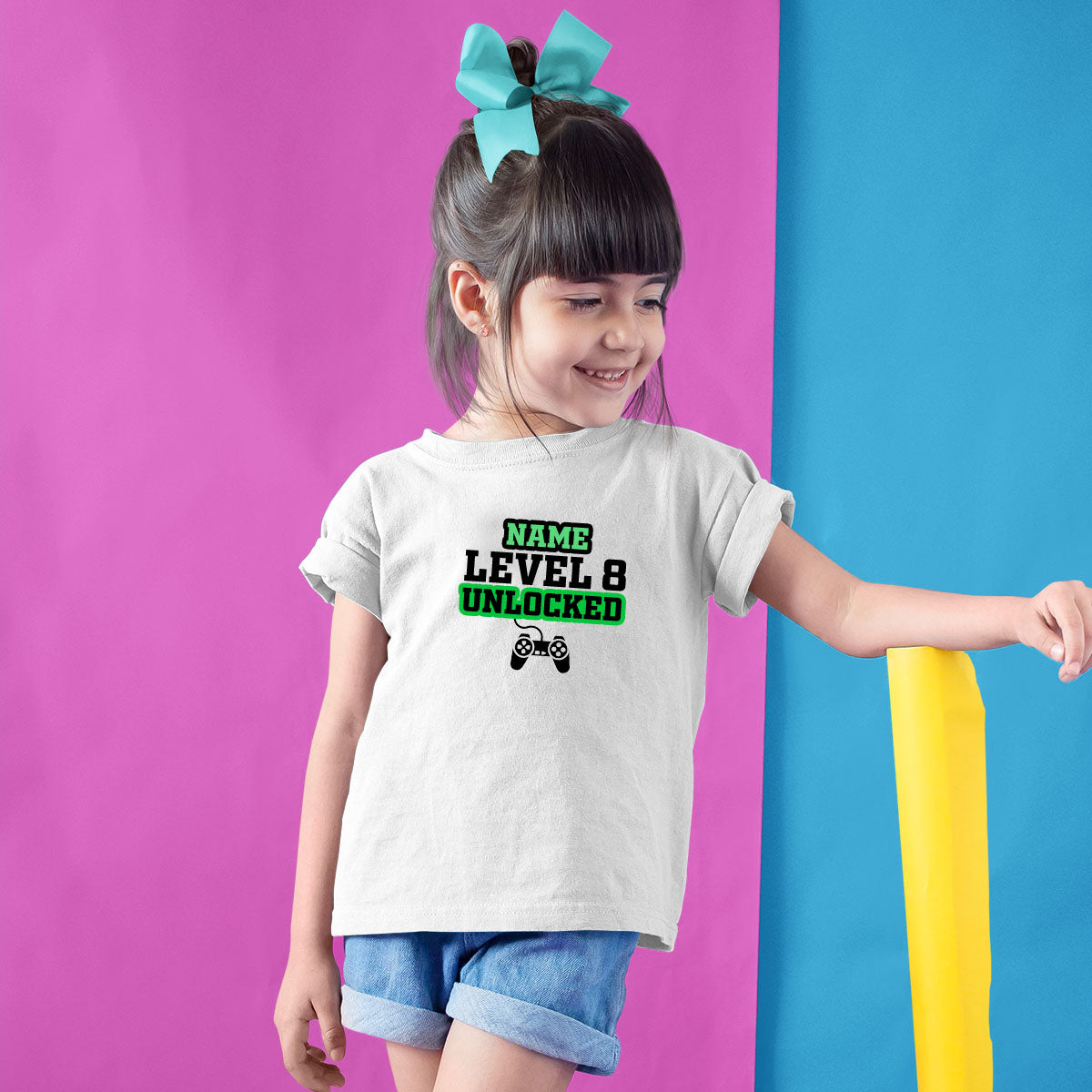 Sprinklecart Level 8 Unlocked Birthday T Shirt 8th Birthday Dress for Your Little One