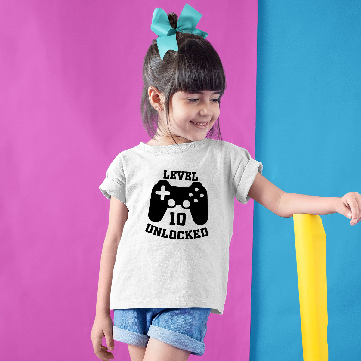Sprinklecart Gaming Themed Birthday Tee | Custom Name and Age Printed 10th Birthday Wear