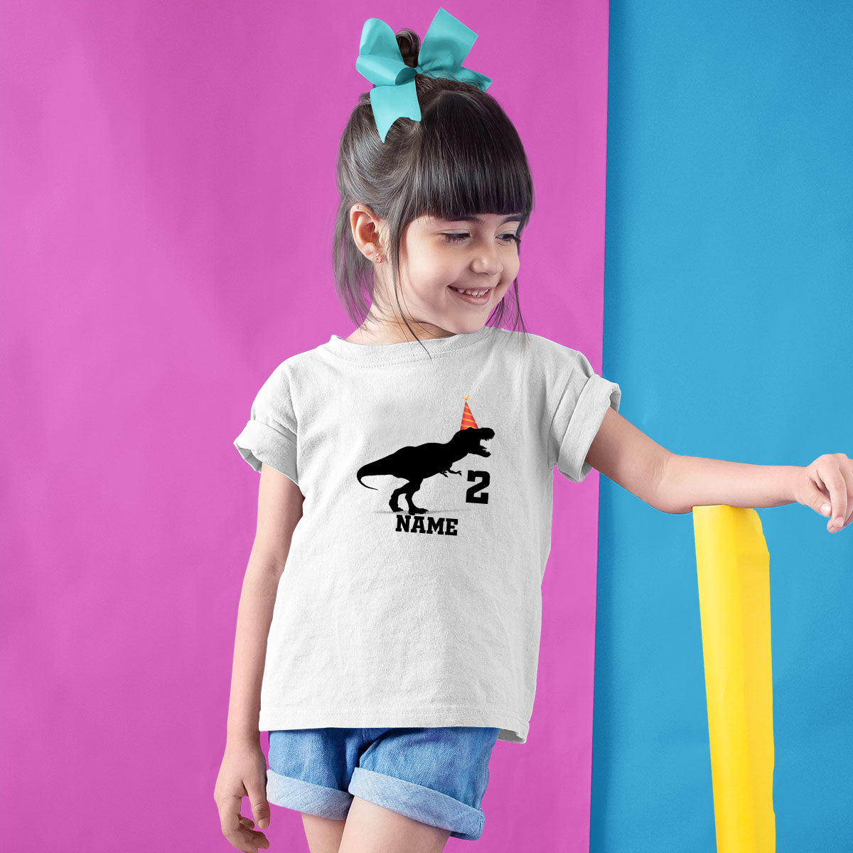 Sprinklecart Customized Cute Dinosaur Birthday Wear | 2nd Birthday T Shirt