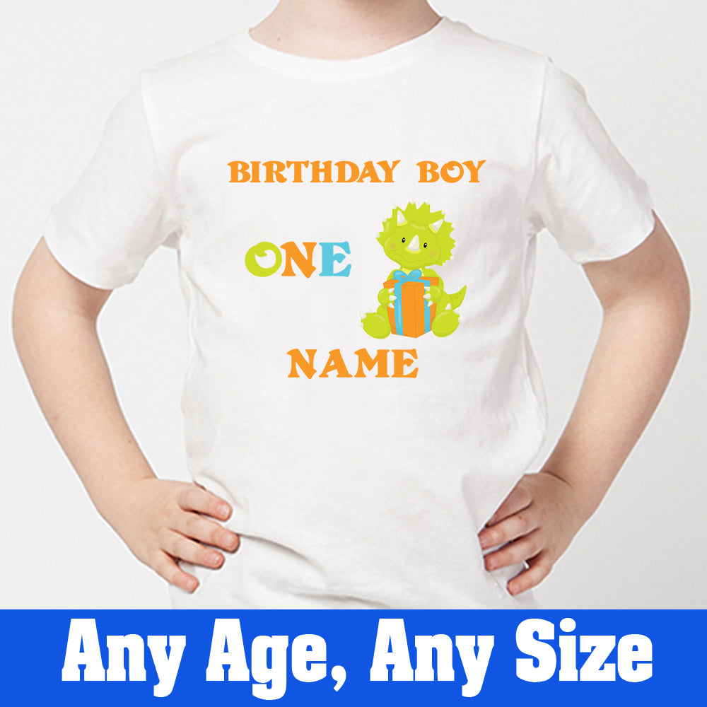 Sprinklecart Cute Dinosaur Birthday Wear | Personalized First Birthday T Shirt for Your Little Star