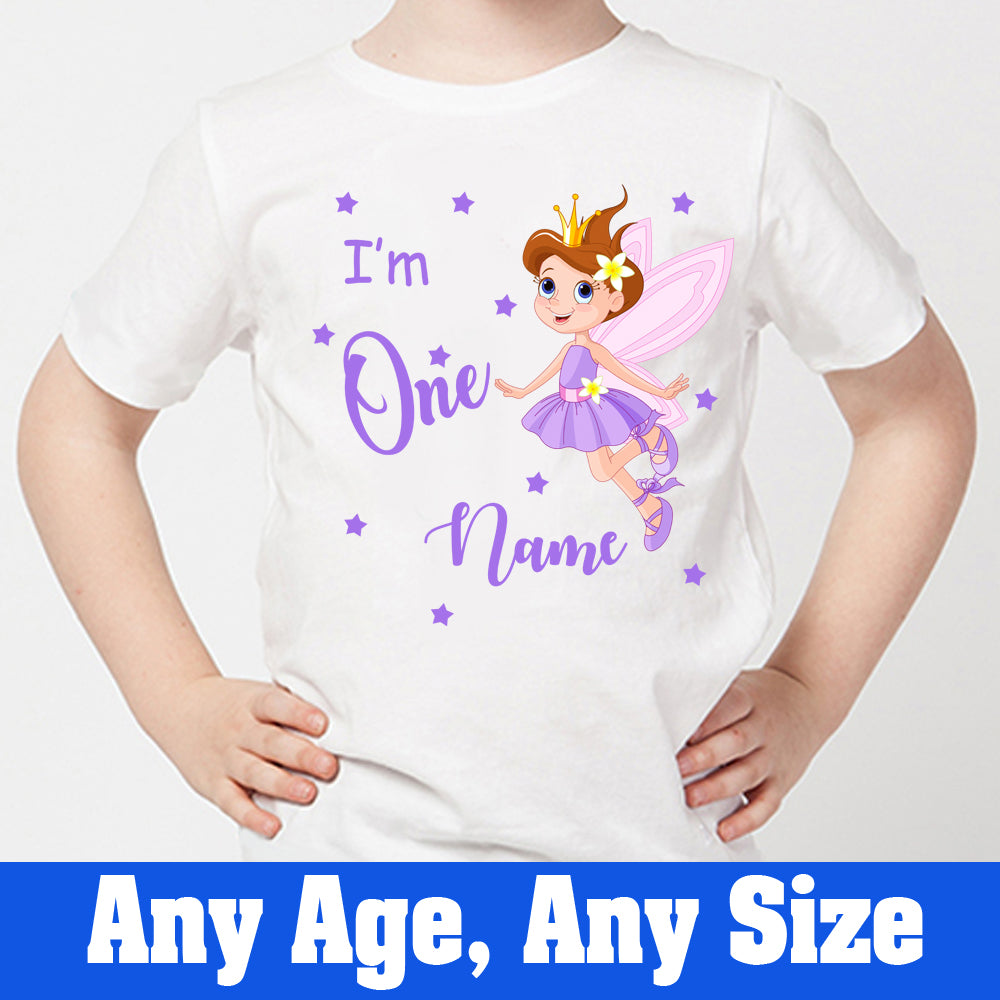 Sprinklecart Cute Little Fairy Birthday Tee | Personalized First Birthday Dress for Your Little Princess